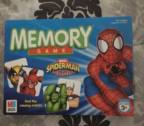 MEMORY GAME: Spiderman & Friends Edition Pre-Owned Ages 3+ 72 Cards & Tray