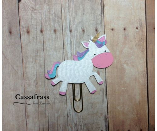 Cute Unicorn Paperclip, Bookmark, Planner Clip, Handmade