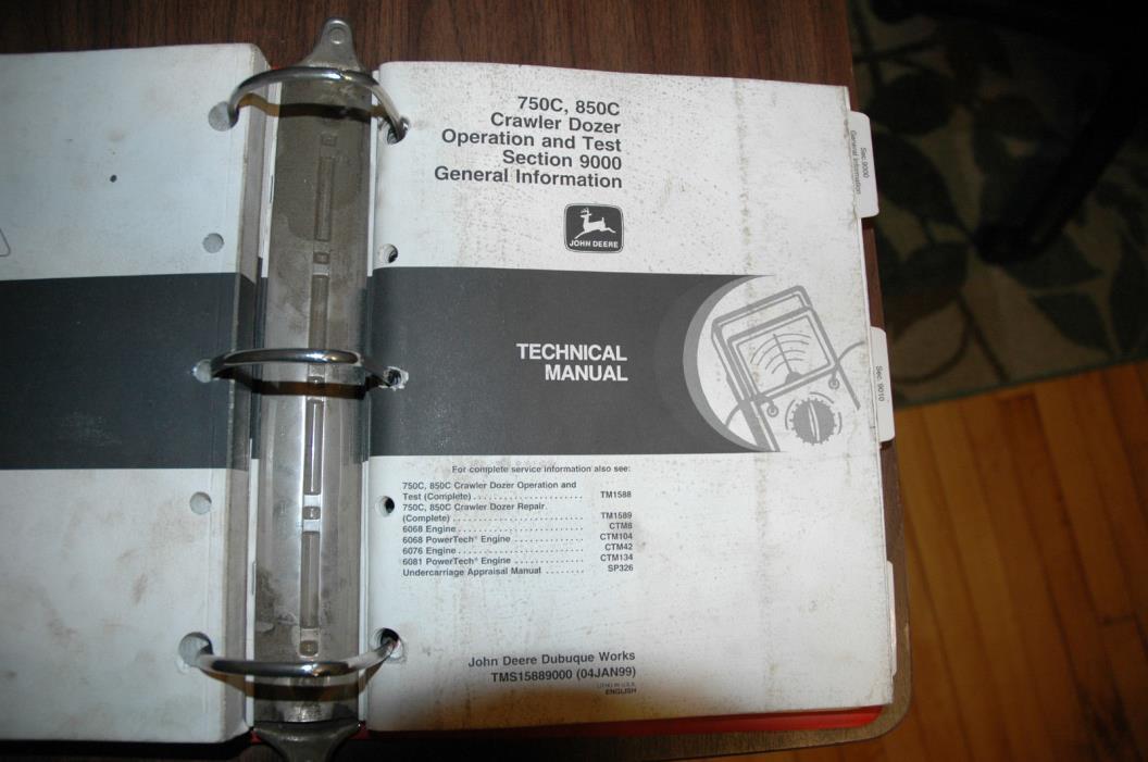John Deere 750C, 850C Crawler Dozer Tehcnical Service Manuals