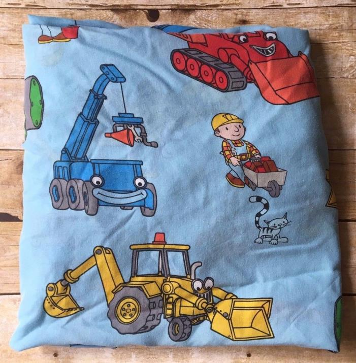 Bob the Builder Twin Fitted Sheet Blue Dan River Fabric