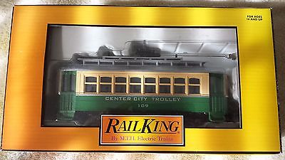 Rail King MTH Center City Bump-n-Go Trolley, # 30-2545 O Scale, with Box Nice!