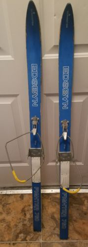 Vintage Antique Skimaster Edsbyn Fighter 760 Blue Child Cross Country Ski's 120