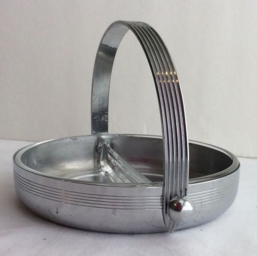 Art Deco Chase Chrome Plated Divided Dish