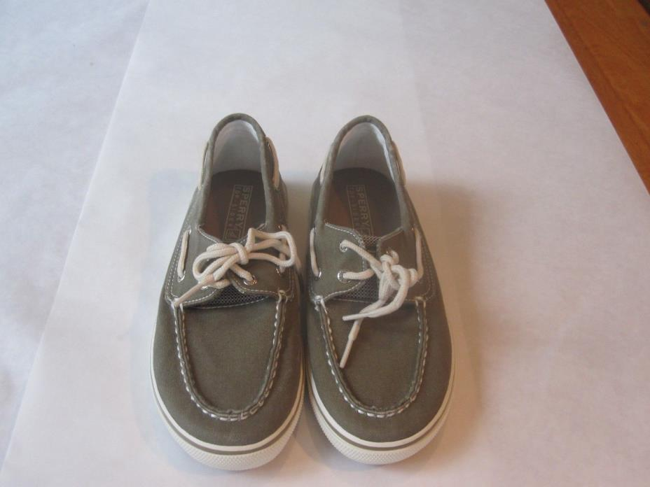Sperry Top-Sider Kid's Shoes Sz.3.5. Gray. Slightly Used