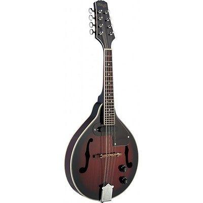 Stagg M50-E Electro Acoustic Bluegrass Mandolin With Nato Top Redburst NEW