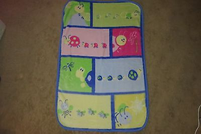 ADORABLE VERY SOFT LARGE PLUSH BABY BLANKET SIZE 35X46 EUC!