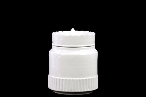 73133 Ceramic Canister with Lid - White