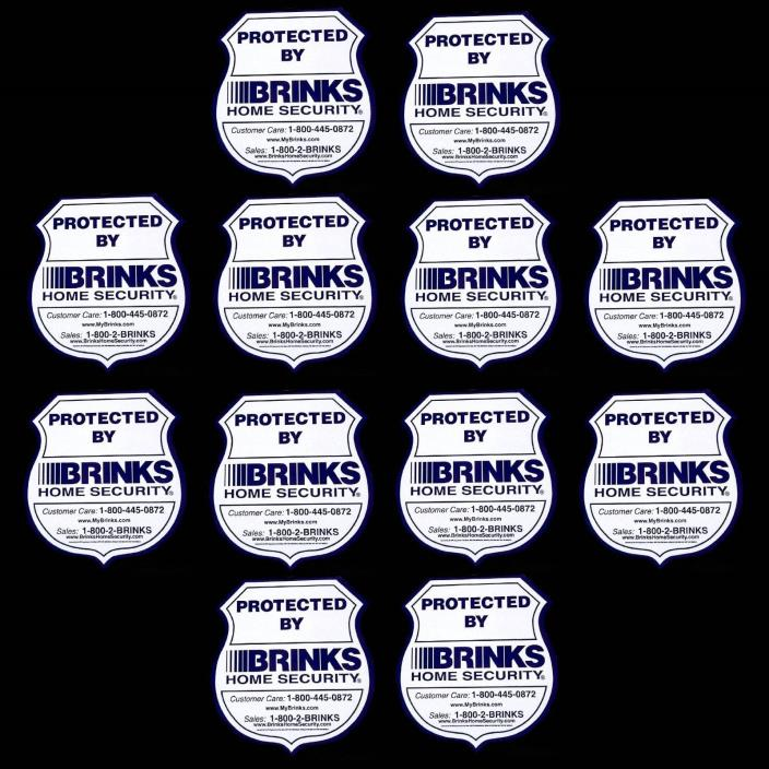 12 WATERPROOF BRINKS ADT HOME SECURITY ALARM SYSTEM WARNING STICKER DECAL LOT