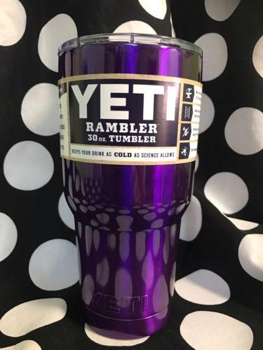 30 oz YETI Purple Metallic Rambler Stainless ??????