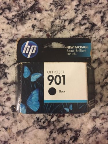 HP 901 (CC653AN#140) BLACK INK CARTRIDGE, NEW IN BOX EXPIRED DATE BUT SEALED