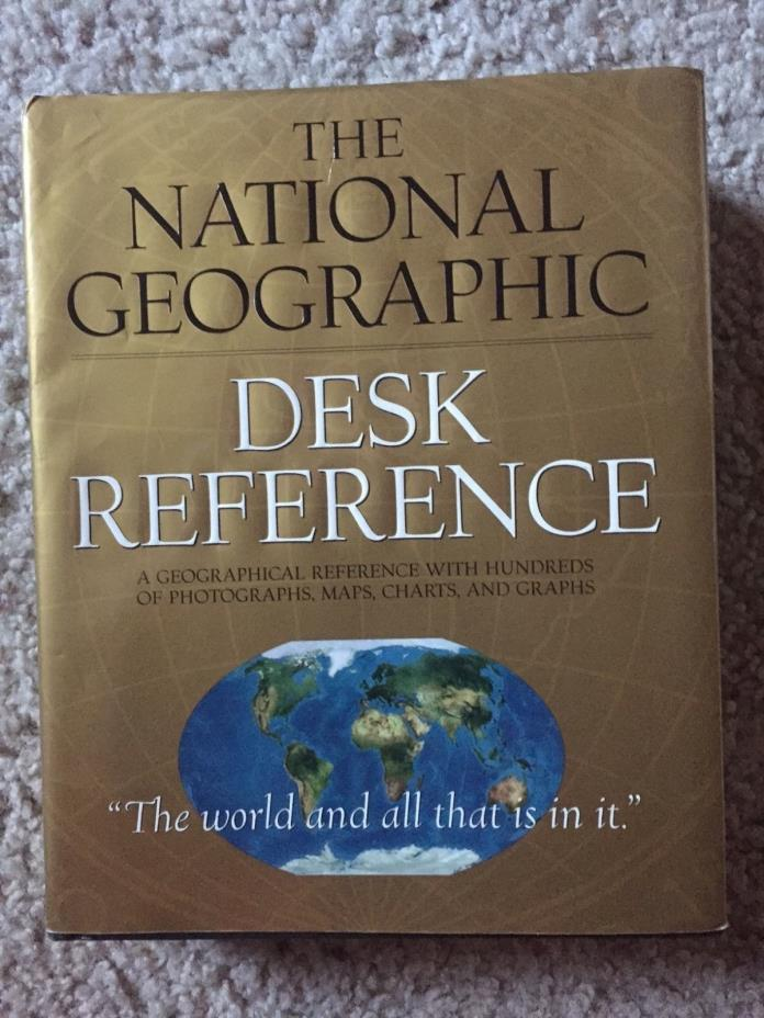 1999 National Geographic Hard Cover Desk Reference World Maps Charts Graph Photo