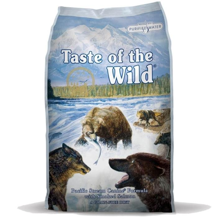 Taste of the Wild Pacific Stream Grain-Free Dry Dog Food (30-lb)Free Shipping