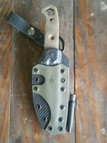 Od green/black carbon fiber kydex sheath for Tops Brakimo