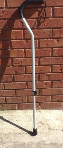 Offset Walking Cane 250 lb Capacity Height Adjustable Comfortable Grip