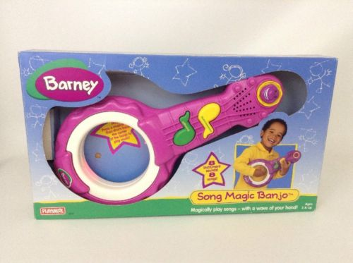 Vintage 90's Playskool Barney Song Magic Banjo Toy Instrument w/ Batteries