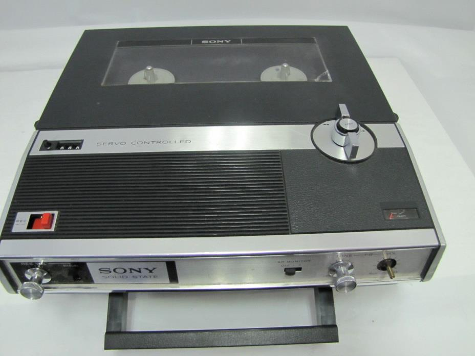 Vintage 1970's Sony Reel to Reel Servo Control Tape Recorder/Player TC-222-A