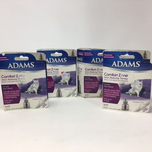 Adams Comfort Zone Diffuser Multicat Kittens Calming Relaxation Pheromone Lot 4