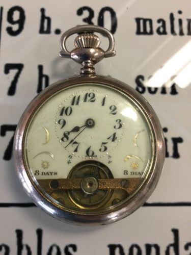 8 Days Swiss Pocket Watch