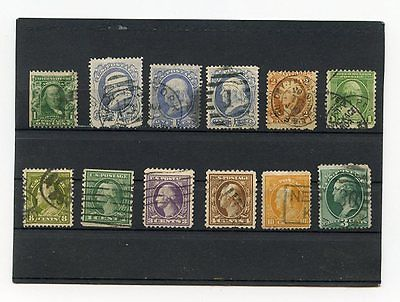 USA, UNITED STATES, SELECTION OF OLD USED STAMPS, WASHINGTON AND FRANKLIN, LOT 2