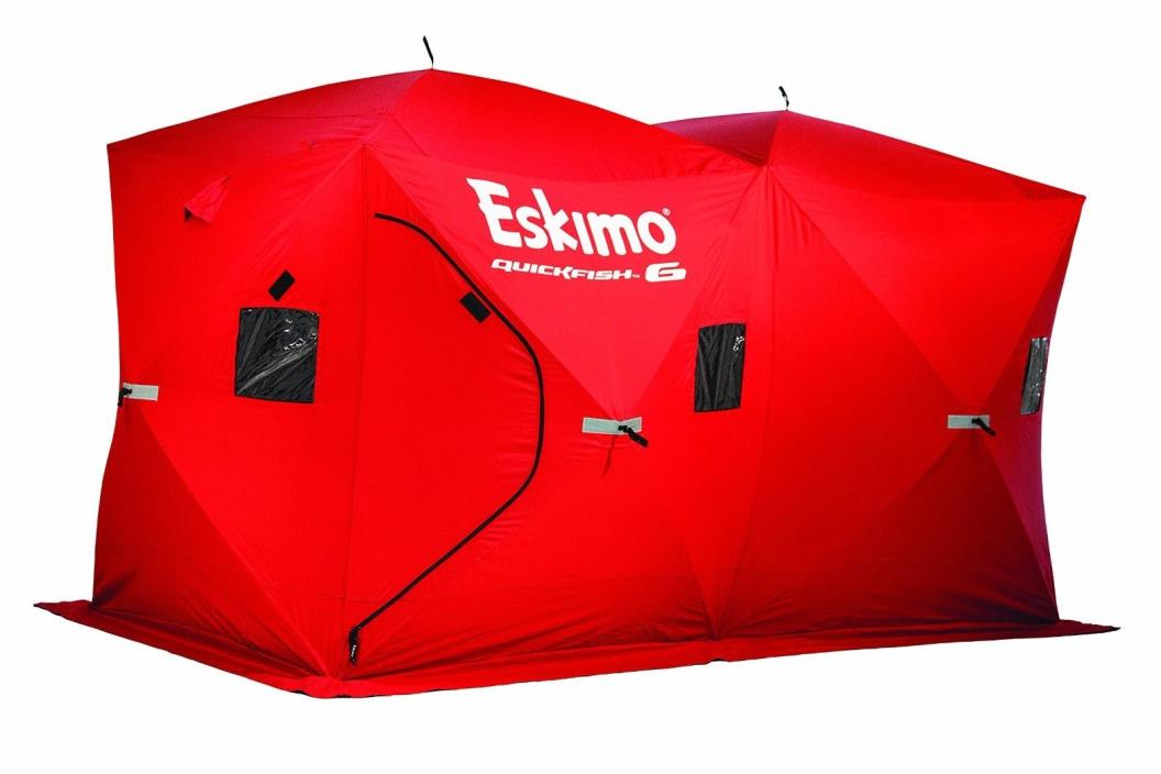 Portable Ice House Fishing Shelter Cover From The Elements 6 Person Capacity New