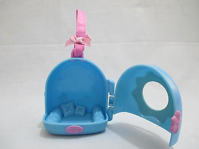 Littlest Pet Shop Blue Portable Carrier Bed House Cat/Dog Accessory