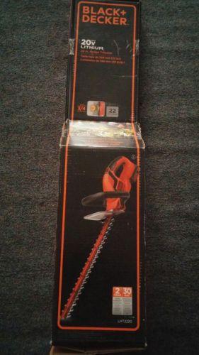 Black + Decker 20v Max Lithium 22 in. hedge trimmer