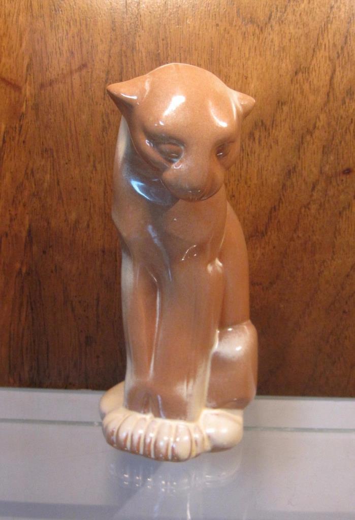 FRANKOMA Desert Gold Seated PUMA (Cat Ocelot Couger Panther) Figurine #114 MINT