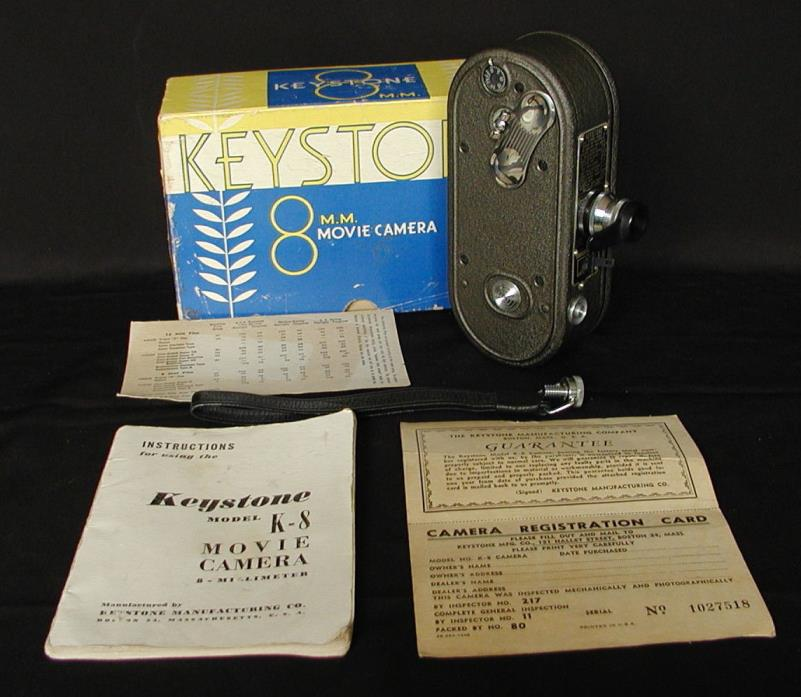 Vintage Keystone 8mm Movie Camera - Complete Package - Manuals & Accessories