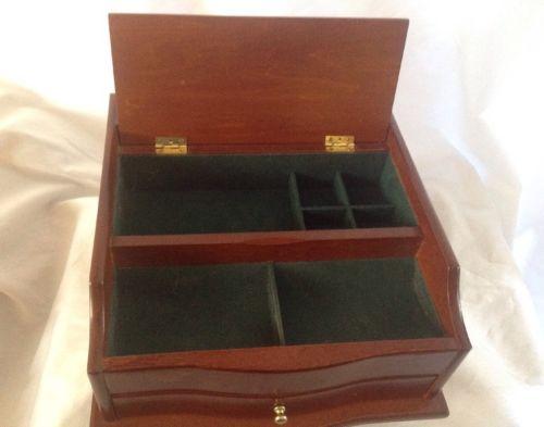 Men's Dresser Top Valet Organizer Jewelry Storage Compartments
