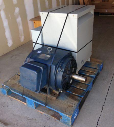 Leeson 75-HP 220V Rotary 3-Phase Converter (Transformer/Capacitor Bank/Motor)