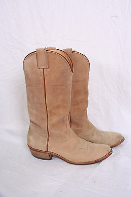 Nocona Boot tan SUEDE COWBOY BOOTS size 7.5 Mens Rodeo Western