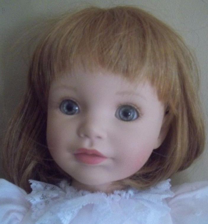 SUSAN WAKEEN wakeem LIFELIKE red hair realistic BABY DOLL christening