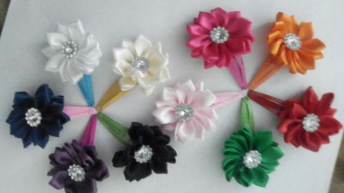 hair accessories flower clips great for all occasions. Wedding Easter holidays