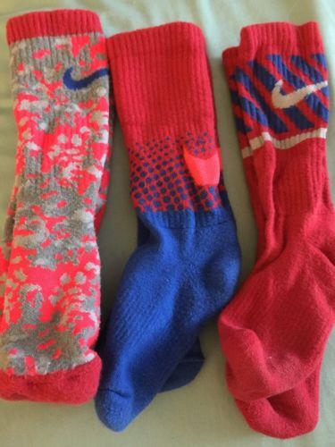 Nike 3 Pair Kids Socks  Crew Socks Size 6-9  Boys Girls Soccer