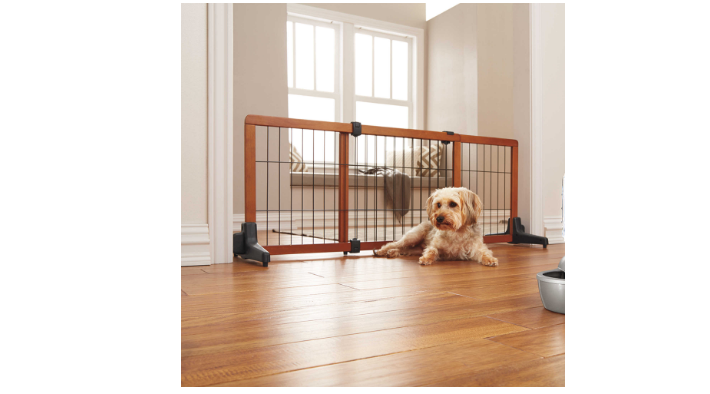 Home Carlson Freestanding Extra Wide 70'' Pet Gate block off