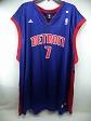 Detroit Pistons Adidas NBA #7 Gordon Blue Jersey 4XL