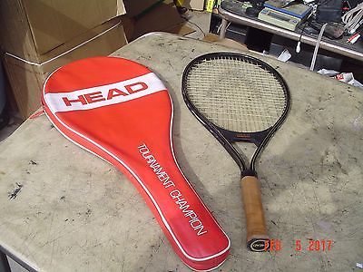 Head Jr. Tournament Champion Alloy Tennis Racquet 4.0 Leather Grip Full Case