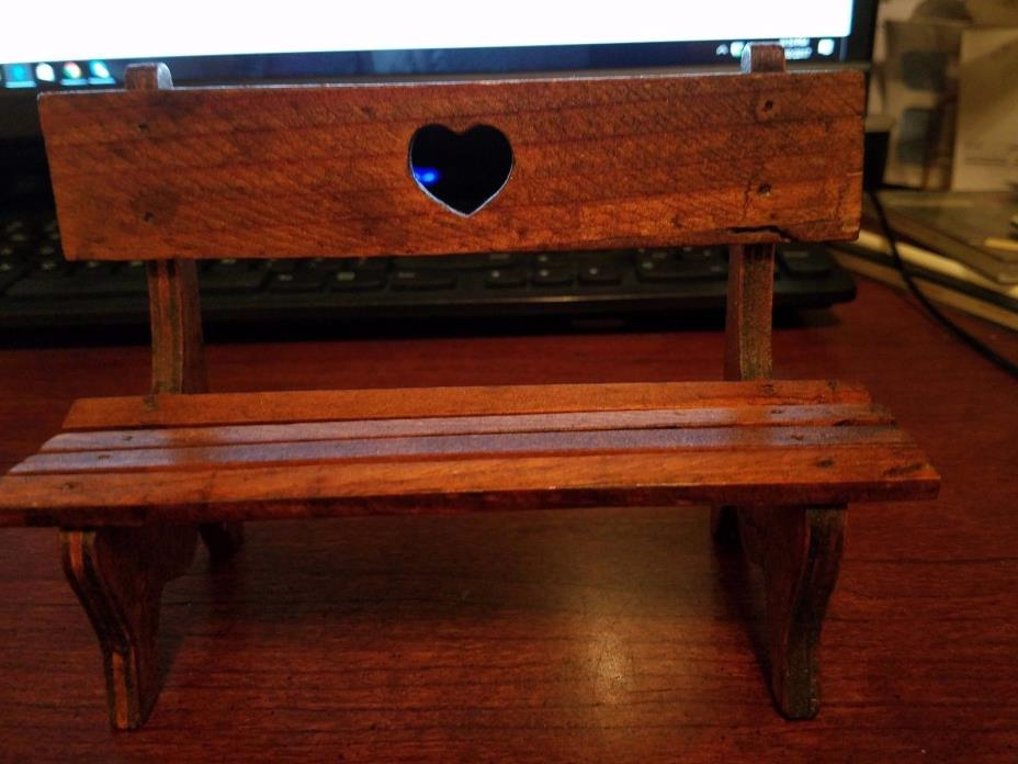 Little wooden doll bench
