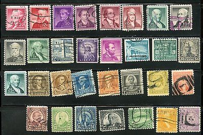 USA, UNITED STATES, SELECTION OF OLD USED STAMPS, LOT 3