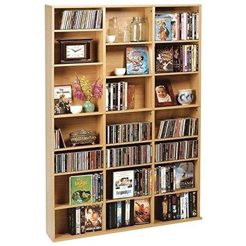 Media Wall Shelves DVD CD Storage Rack Cabinet Book Shelf Display Adjustable