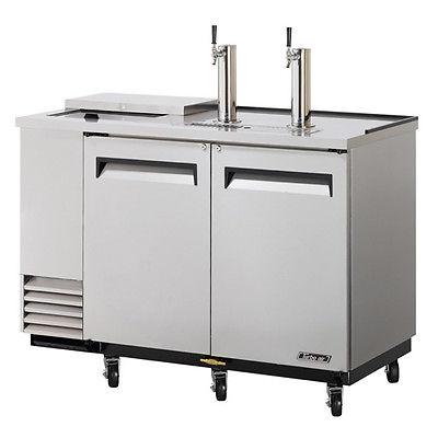 Turbo Air TCB-2SD, 59-inch Stainless Steel Club Top Beer Dispenser - 2 Kegs