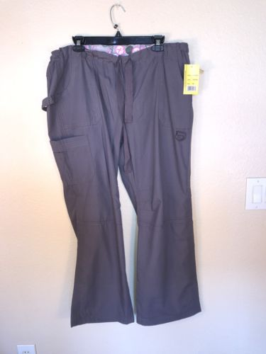 GREEN TOWN WOMEN'S SCRUB BOTTOMS ~ SIZE: XL ~ COLOR: GRAY ~ NEW