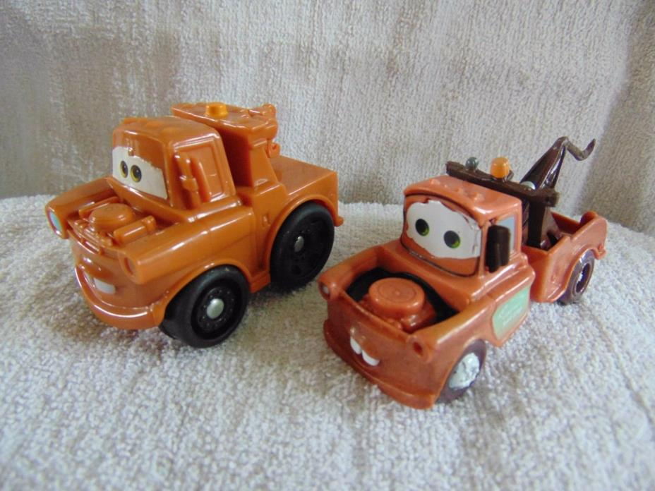 2 Small~~Disney Cars' Tow Mater Plastic Vehicles