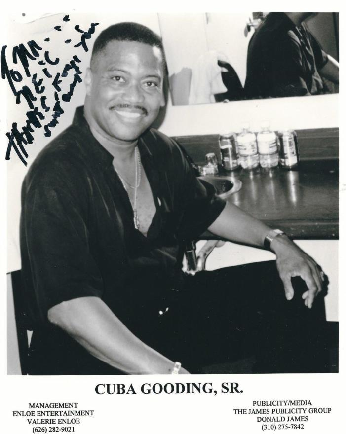 CUBA GOODING SR. SIGNED THIS 8x10 B/W PHOTO-