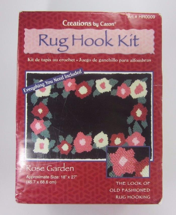 Rug Hook Kit Rose Garden Caron 18