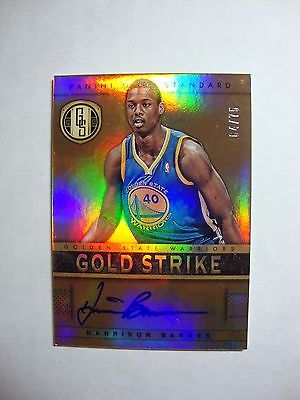 2012 Panini Gold Standard Gold Strike HARRISON BARNES Auto RC 64/75 SP Dallas