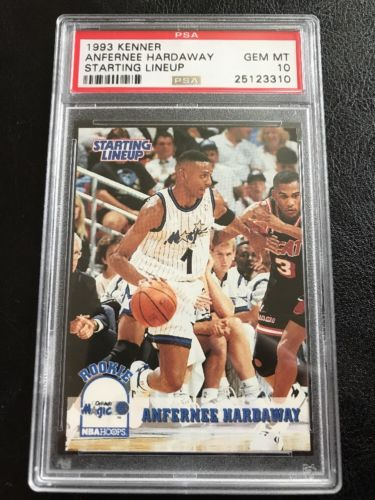 1993 Kenner Starting Lineup Anfernee Hardaway RC PSA 10 Gem Mint Rookie Low Pop