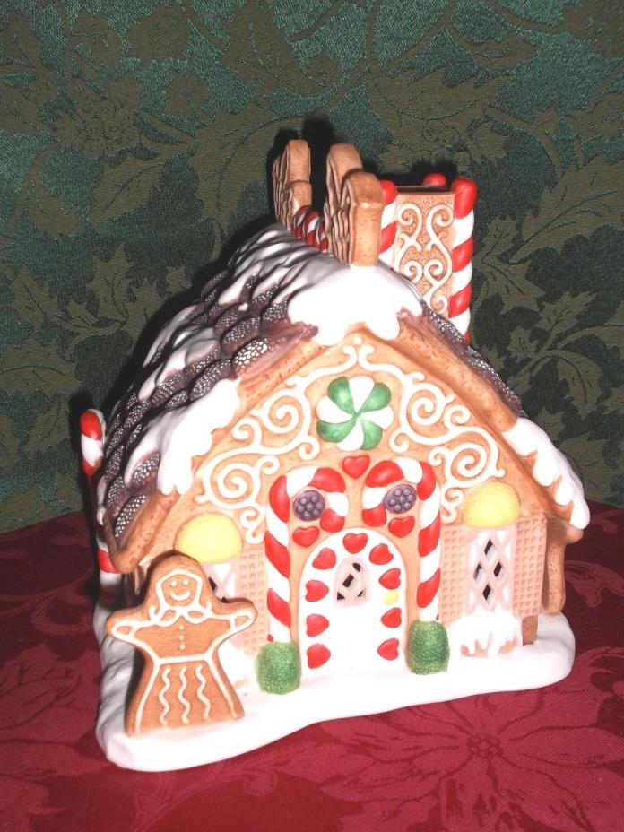 PARTYLITE Gingerbread Tealight House Christmas  Candle Holder '90s Retired