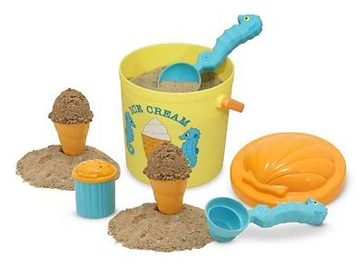 New Melissa & Doug Speck Seahorse Sand Ice Cream Set #6433 - Ages 3+ - Free Ship