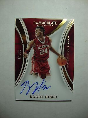 2016 Panini Immaculate Collection Acetate Buddy Hield Auto RC 87/99 SP